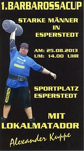 1.   Barbarossa-Strongman-Cup in Esperstedt